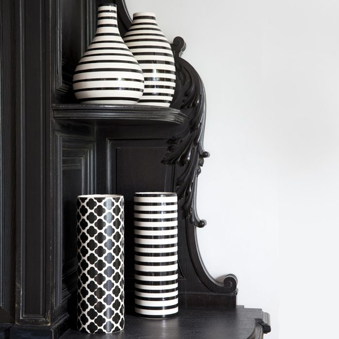 #bouchara #black#glam Vases Bouchara N&B Mix and Match formes et graphismes