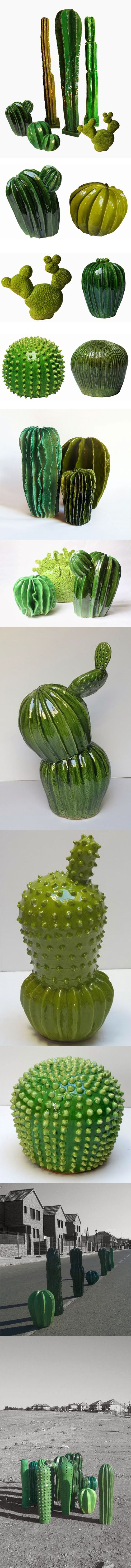 Ceramic cactus - The works of Lina Cofán on the LPP blog. All images via the artist.