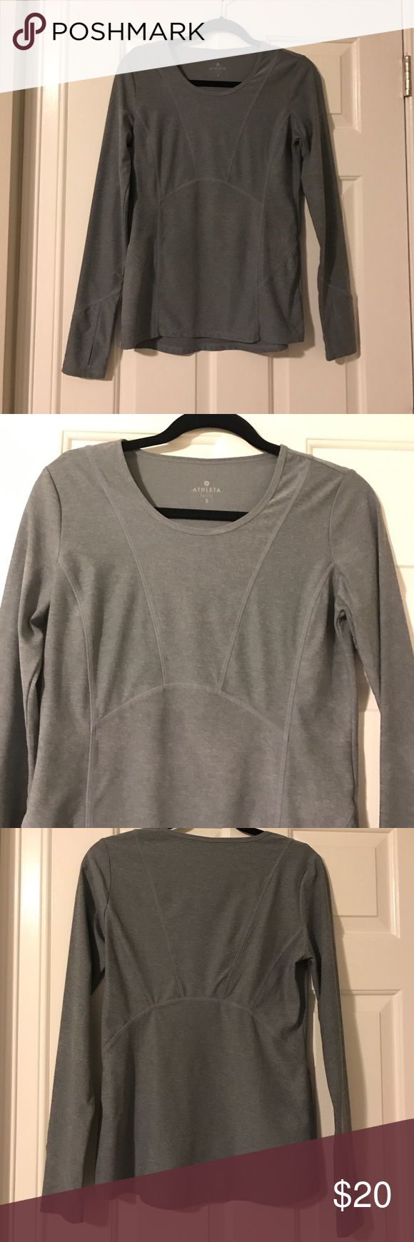 Athleta - Gray athletic casual top Gray athletic casual top with stitching- excellent condition - only worn a couple of times Athleta Tops