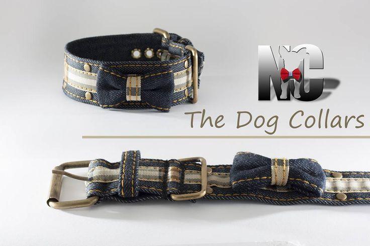 Collar escocés en tejido vaquero oscuro. Bonito resistente y duradero.  #dog #dogcollar #tartan #scottish #petcollar #denim #catcollar #handcrafted  #perros #perrosdeinstagram #vaquero
