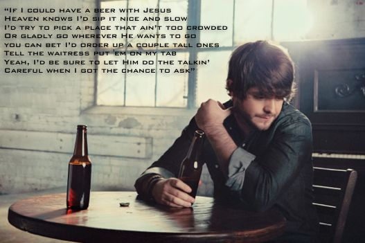 Beer with Jesus Thomas Rhett with lyrics on screen - YouTube