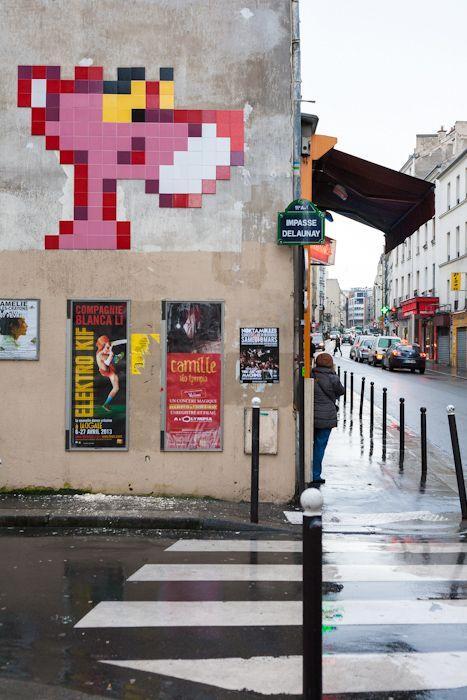 PA-1039 - Space Invader @ Paris - La panthère rose