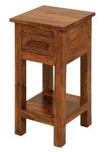 Cube Sheesham Telephone/lamp Table 1 Drawer Size: Small Thakat Jali Table- Livingroom Furniture: Amazon.co.uk: Kitchen & Home