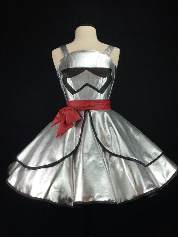 Star Wars The Force Awakens Inspired Handmade Captain Phasma Dress - Full Circle…
