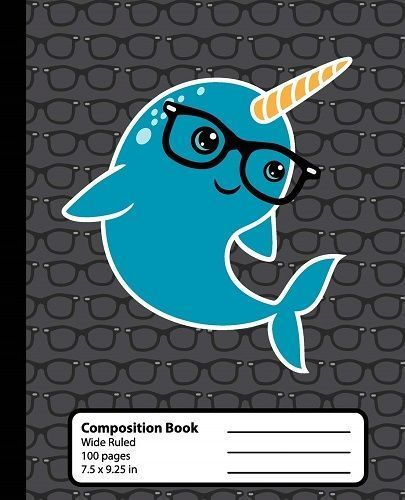 Narwhal Composition Book. Cute school supplies for kids and tweens.
