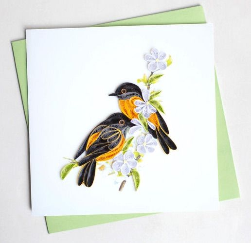 Orioles - by: Quilling Card-Etsy