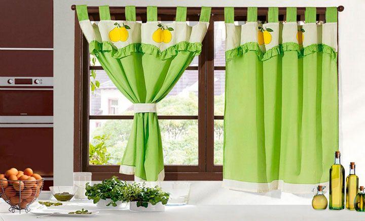 49++ Cortinas verdes para cocina ideas