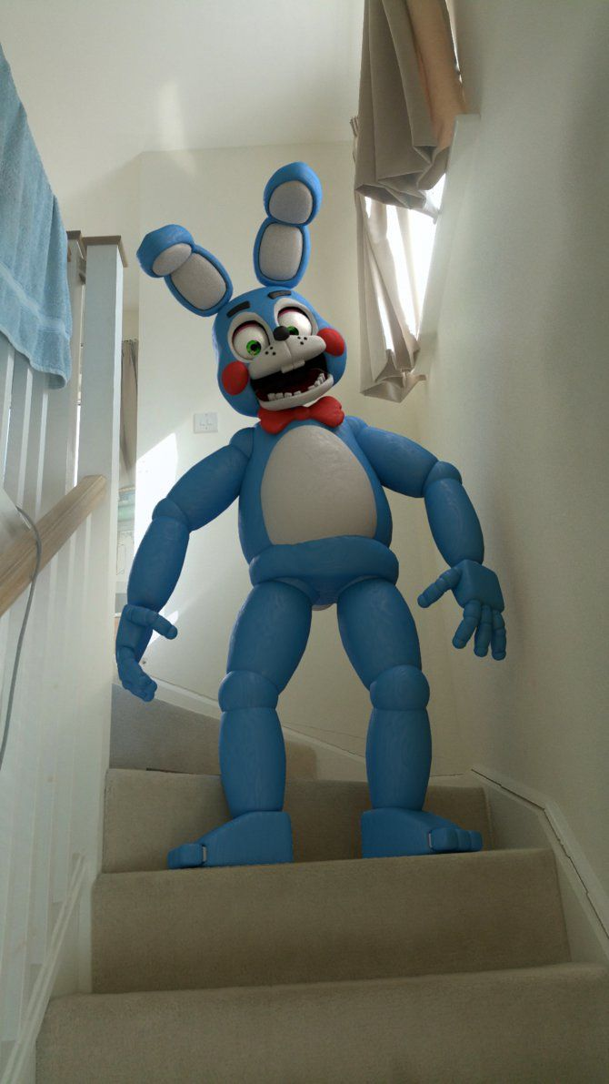 F fnaf bonnie costume for sale - Toy Bonnie In Real Life By Easter Bonnie On Deviantart