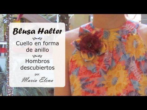 Blusa Halter, hombros descubierto y cuello tipo anillo         |          EL BAÚL DE LAS COSTURERAS