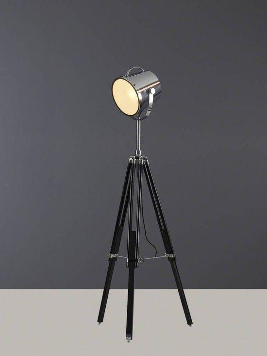 DecoNation Vintage Scheepslamp - Vloerlamp - 3 poten - Zwart