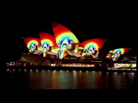 """Vivid Festival 2013 - Opera House Projection """"PLAY"""" by Spinifex Group - Extracts"""