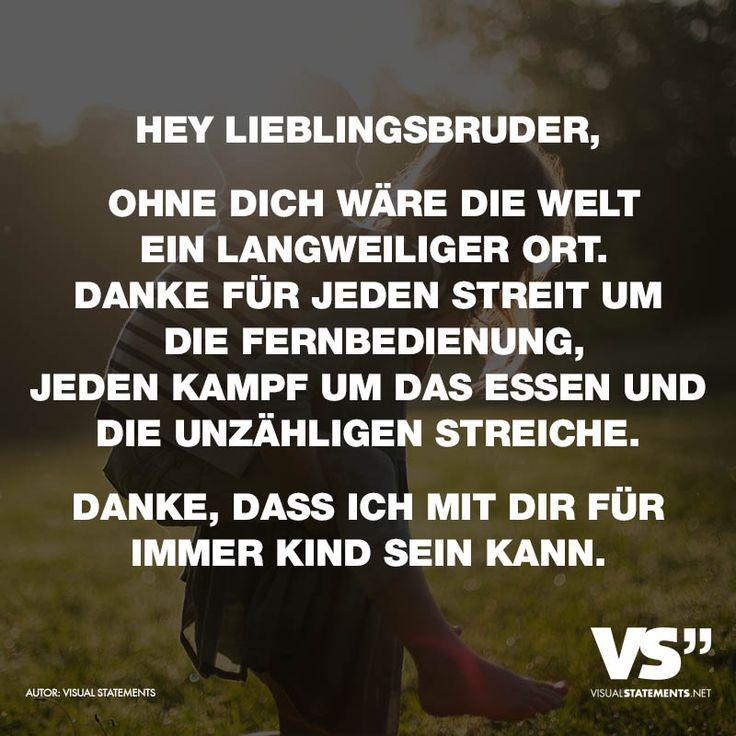 Hey Lieblingsbruder...
