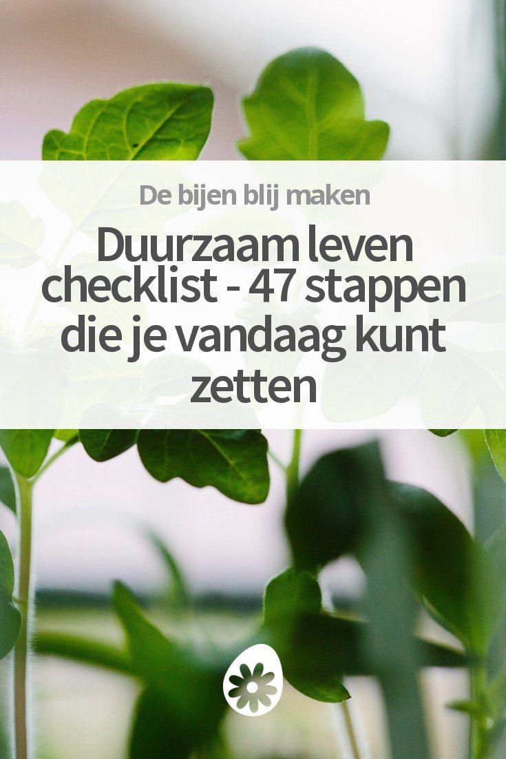 Duurzaam leven checklist - 47 stappen die je vandaag kunt zetten