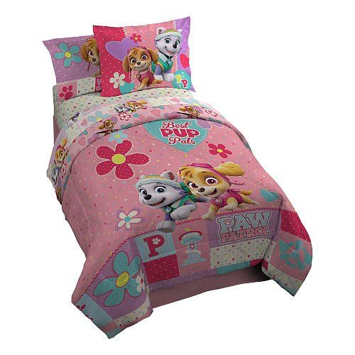 Pink Paw Patrol Bedding for Girls. Adorable Little Girls Bedding Sets.
