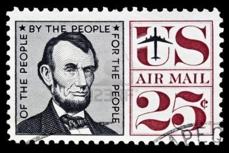 Abraham Lincoln Postage Stamp Postage Stamps From U S A Pinterest