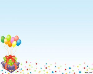 Globos de cumpleaños plantilla PowerPoint es un fondo divertido para PowerPoint que puede ser utilizado para cumpleaños pero también para aniversarios o en ocasiones donde globos de colores vienen bien, por ejemplo para combinar con regalos en un cumpleaños o aniversario de alguien conocido