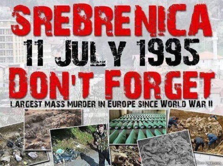 8372 people murdered in Srebrenica genocide on 11. July