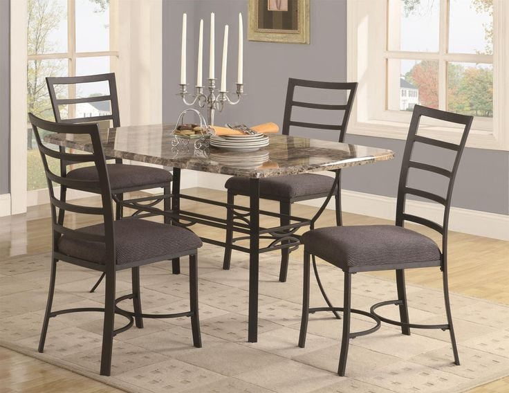 Metal Dining Room Table Sets