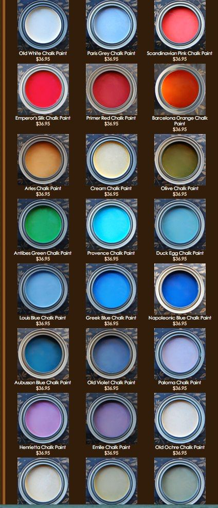 I like this photo...easy to compare shades. Annie Sloan Chalk Paint