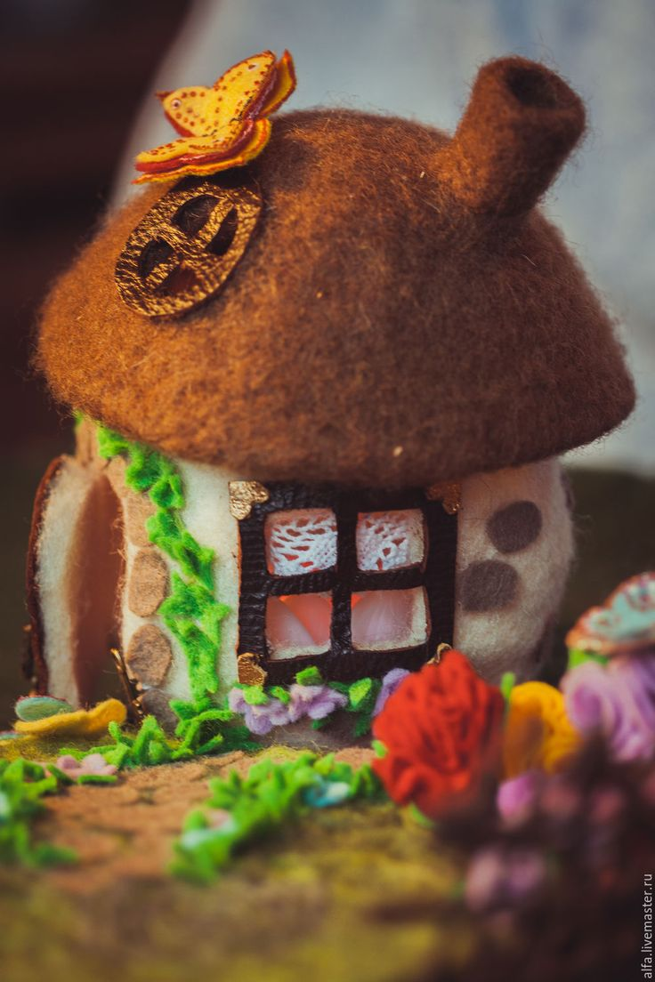Купить Домик для кукольного театра - белый, коричневый, дом, домик, домик для кукол, игра