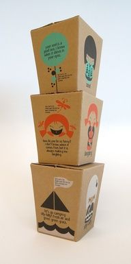 Cute box packaging  #illustration, #packaging
