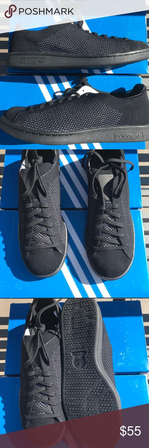 NWT adidas Stan Smith Prime Knits Black NWT adidas Stan Smith Prime Knits Black.  Adidas Prime Knits fun big. These shoes wear like a 10/10.5 The actual size is 9.5 adidas Shoes Sneakers