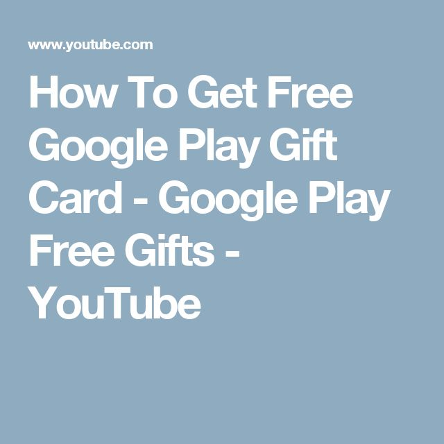 How To Get Free Google Play  Gift Card - Google Play Free Gifts - YouTube