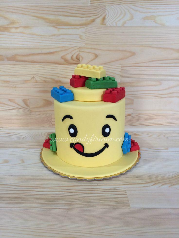 Lego themed birthday cake  #butikpasta #sugarart #fondantcake #legocake #legopasta #sekerhamuru