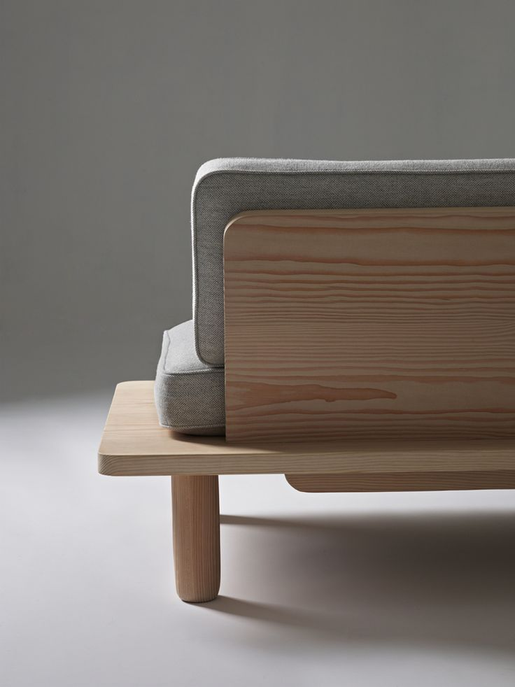 Plank Sofa is a minimalist design created by Norwegian-based designers KnudsenBergHindenes. The sofa is easily assembled, and can be flat-packed for efficient delivery and transportation. The framework is constructed from massive floorboards taken from Dinesen Douglas spruce trees. (1)