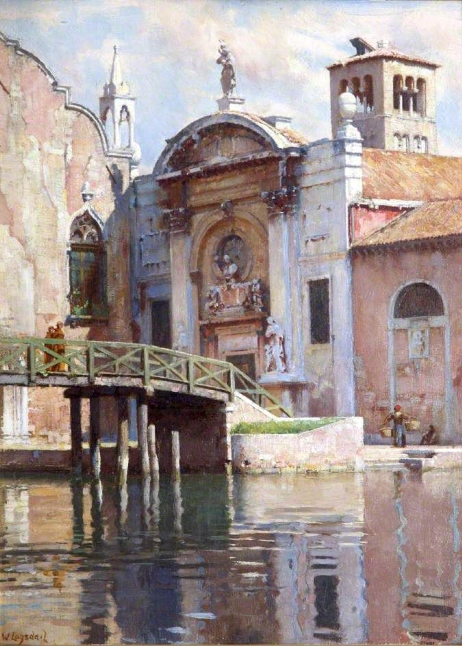 Venetian Scene, Canal, William Logsdail.