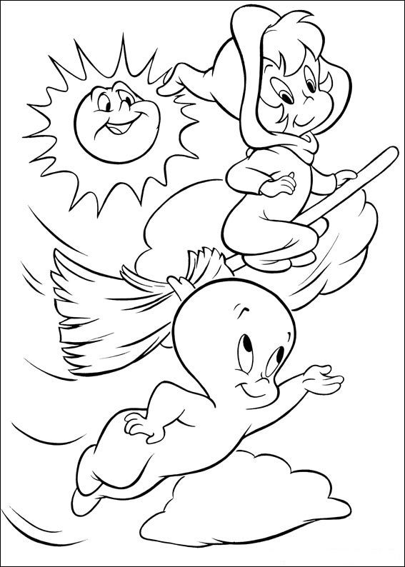 casper the friendly ghost halloween worksheets for kids | Casper Ghost Coloring Pages