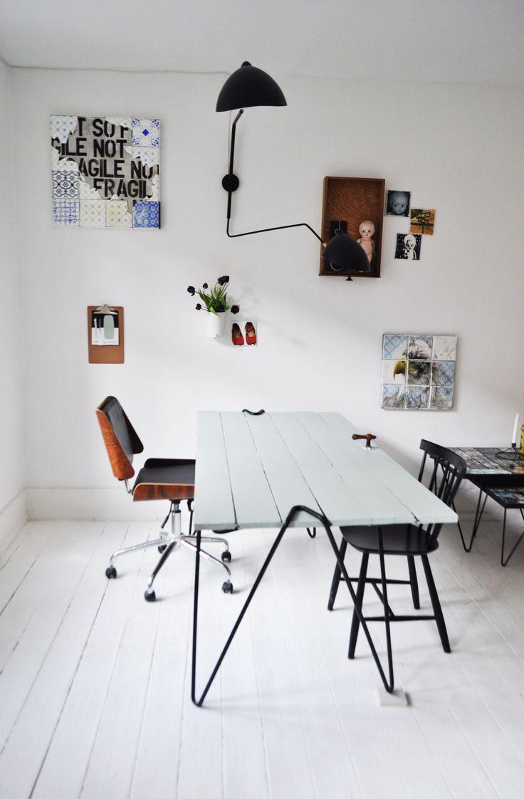 ARTTILES STUDIO Wall decor, canvas tiles. Office interior.