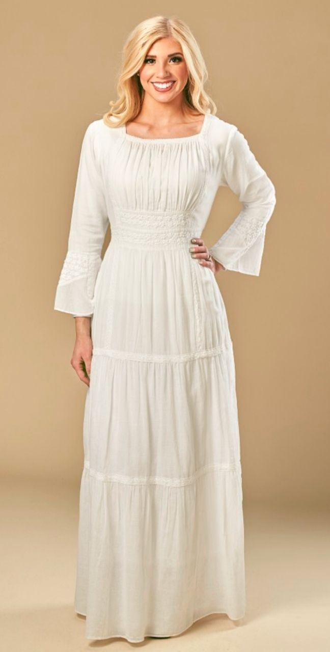 d9e3086d8453 Pin by Lisa Farnworth on A Temple clothes set | Dresses, Temple dress, White  temple
