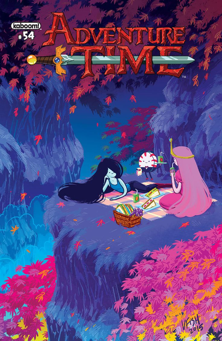 Adventure time marceline and bubble gum