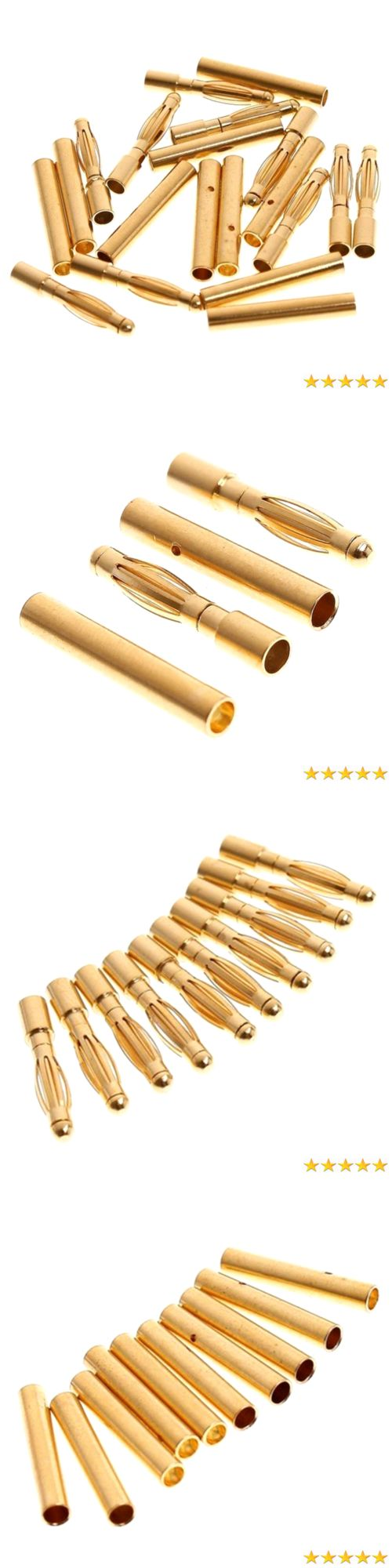 Switches Connectors and Wires 182178: Pixnor 50 Pairs Of 2.0Mm Gold Plated Male And Female Bullet Banana Connectors P -> BUY IT NOW ONLY: $37.78 on eBay!