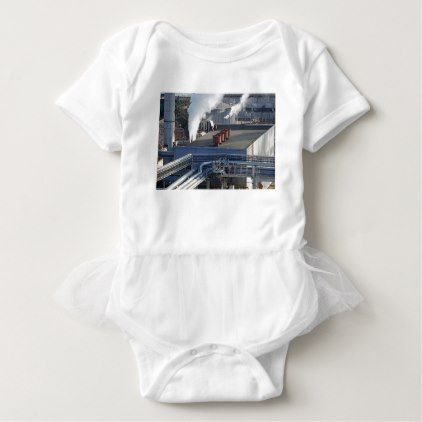 Industrial infrastructure buildings and pipeline baby bodysuit - modern style idea design custom idea
