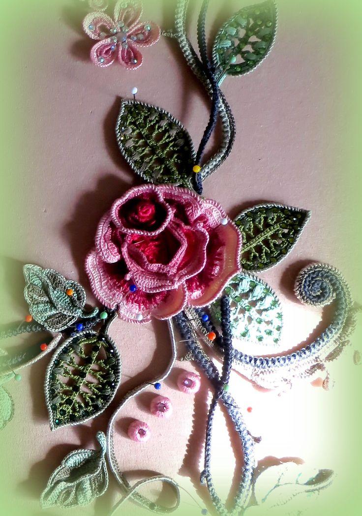 Мастер-класс на мотив «Пышная роза» из платья «Эдем» от Аси Вертен
