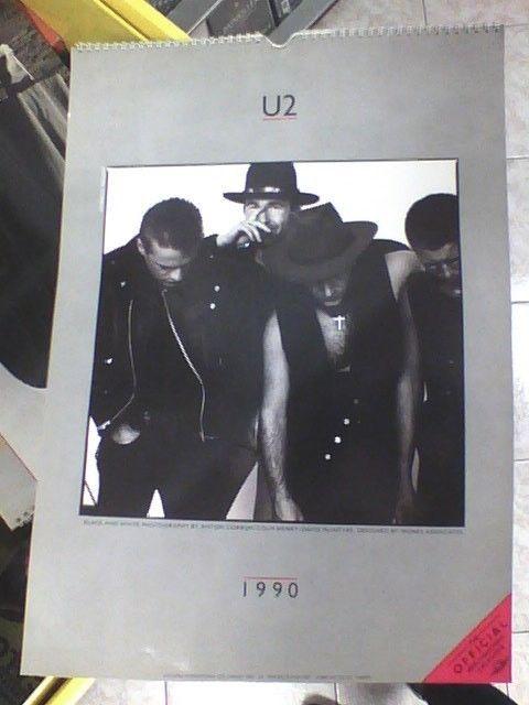 U2 CALENDARIO CALENDAR  ANNO 1990  RARO !!!!