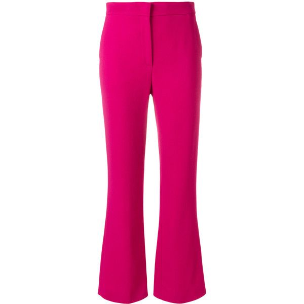 Emilio Pucci cropped tailored trousers ($800) ❤ liked on Polyvore featuring pants, capris, pink, emilio pucci, pink pants, cropped trousers, tailored fit pants and tailored trousers