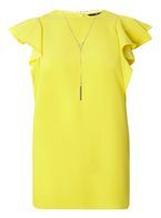 Womens **Tall Yellow Necklace T-Shirt- Yellow