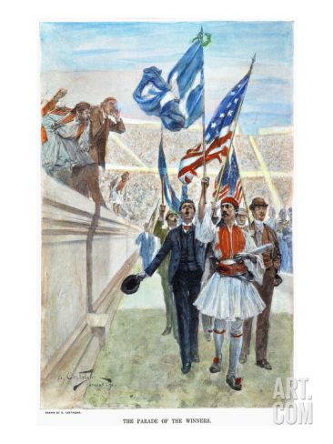 Olympic Games, 1896 Art Print by Andre Castaigne at Art.com