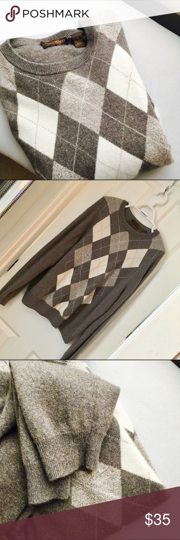 100% Cashmere Sweater Men's 100% Cashmere sweater Paolo Mondo Sweaters Crewneck