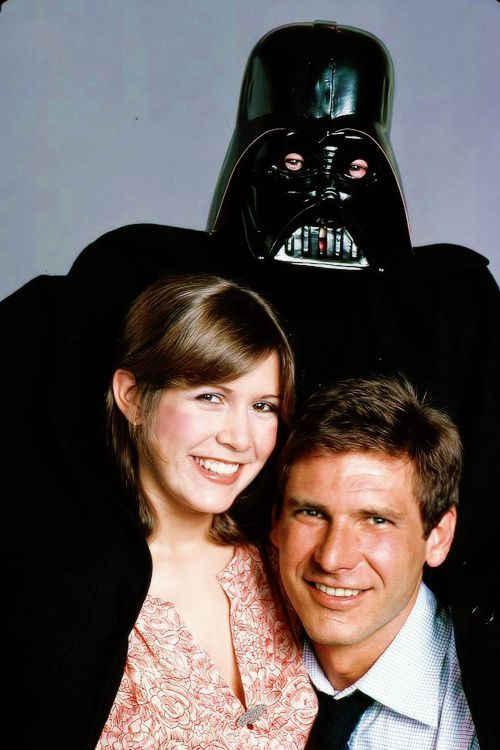Carrie Fisher and Harrison Ford photographed by Harry Benson, 1978.