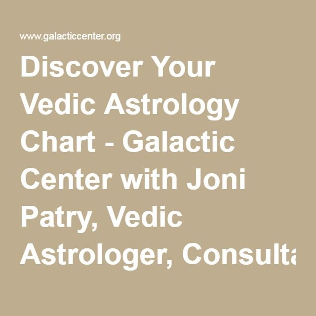 Discover Your Vedic Astrology Chart Galactic Center With Joni