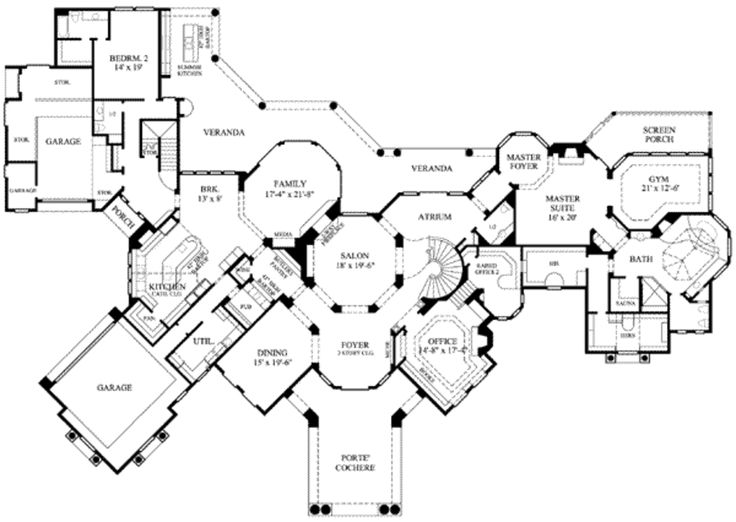 Beautiful European Style House Plan   5 Beds 7.00 Baths 8617 Sq/Ft Plan #61 · Luxury  House PlansLuxury Floor ...