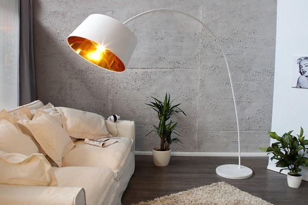 Lampa Podłogowa White & Gold Doro
