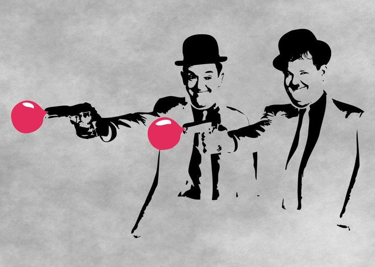 Laurel and Hardy Mashup. Classic comedy duo! Pulp Fiction mashup.  Laurel and Hardy Mashup. Classic comedy duo! Pulp Fiction mashup. Gallery quality print on thick 45cm / 32cm metal plate. Each Displate print verified by the Production Master. Signature and hologram added to the back of each plate for added authenticity & collectors value. Magnetic mounting system included.  EUR 40.00  Meer informatie