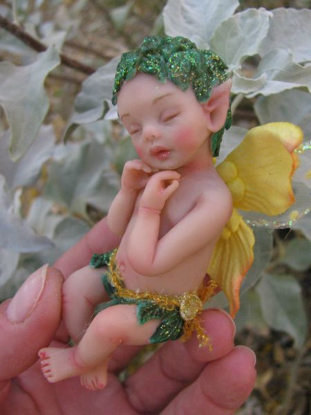 OOAK Baby Fairy ELLA. $55.00, via Etsy. Can't help it= I just love this fairy doll