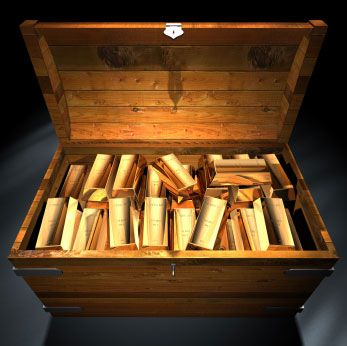An actual gold chest for storage