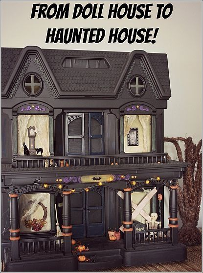 Spray Paint An Old Doll House And Turn It Into A Haunted House Halloween Pinterest Doll